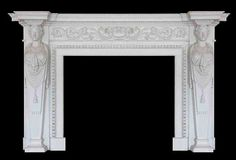 Neo classical caryatid marble fire surround
