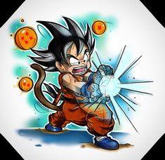 Check out our Dragon Ball merch here at Rykamall now! Cartoon Tattoos, Anime Tattoos, Dragon Ball Gt, Tatoo Naruto, Kid Goku, Comic Tattoo, Image Manga, Graffiti, Sketches