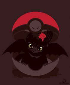 How-To-Catch-Your-Dragon by Matt Dearden #HTTYD #pokémon