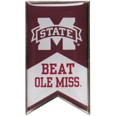 Mississippi State Bulldogs Beat Ole Miss Rivalry Banner Pin - $5.59