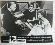 lobby card  Psyche 59 / Das Verlangen   Curd Jürgens , Patricia Neal, S.Eggar