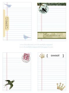 Lots of free printables for project life Freebie Friday - Tons of goodies