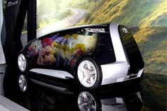Toyota brought its Fun-Vii concept to the LA Auto Show. The automaker designed the vehicle so it can show different types of images on its exterior. - Automotive Fleet Magazine - www.automotive-fleet.com #fleet