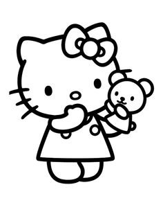 ausmalbild hello kitty | helper und vorlagen | pinterest | ausmalbilder, ausmalbilder hello