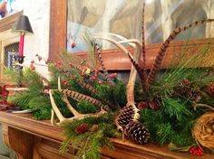Antlers and feathers.