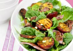 Got some leftover ham? Why not turn it into a delicious Grilled Ham & Peach Salad? This gluten and dairy free ham recipe is a truly tasty lunch idea. Dairy Free Ham Recipes, Grilled Ham, Pear Salad, How To Cook Ham, Easy Salad Recipes, Healthy Recipes For Weight Loss, Recipe Today, Vegetable Dishes, Quick Meals