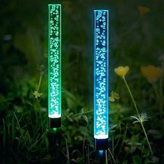 Buy Anpro 2 Pcs Solar Tube Lights Garden Solar Lights Outdoor Solar Acrylic Bubble Lights RGB Color Waterproof Solar LED Lights for Garden Pathway Lawn Decoration at Discounted Prices ✓ FREE DELIVERY possible on eligible purchases. Solar Tube Lighting, Solar Led Lights, Outdoor Lighting, Acrylic Tube, Lawn And Landscape, Lamp Sets, Lamp Light, Light Fixture, A Table