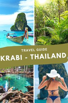 In southern Thailand you will find the tropical paradise of Krabi. With its limestone rock formations, emerald green waters, and over 200 islands home to endless miles of white sand for you to explore you can't go wrong with booking your next trip to Krabi. Thailand Travel Guide, Asia Travel, Solo Travel, Amazing Destinations, Travel Destinations, Krabi Town, Grand Beach Resort, Ao Nang Beach, Limestone Rock