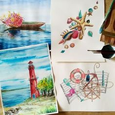 This was a set of paintings with a nautical theme, which is always fun to do. Nautical Painting, Nautical Theme, Fun, Hilarious