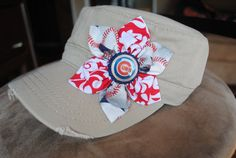 Chicago Cubs Distressed Military Cadet flower hat by Ebowsboutique, $28.00