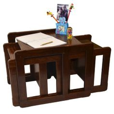 3 in 1 Children's Multifunctional Furniture Set of 3 Two Multifunctional Chairs or Table Small and One Multifunctional Chair or Table Large or Adult's Nest of Three Multifunctional Coffee Tables Dark Beech Wood by Obique Ltd, http://www.amazon.co.uk/dp/B00HRRL54Y/ref=cm_sw_r_pi_dp_w4Uitb0EFHR97