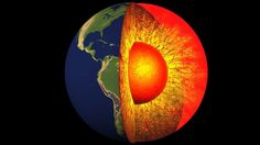 """A new study says that rapid changes in the movement of the liquid outer core are weakening the Earth magnetic field in some areas of the planet's surface. """"Most surprising is that rapid changes occ. National Geographic, Cosmos, Fun Facts About Earth, Dinosaurs Live, Outer Core, Les Experts, Earth's Magnetic Field, All Nature, Earth Science"""