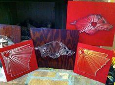 Arkansas Nail and String Art. $55.00, via Etsy.