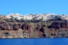 Town on top of volcanic formations