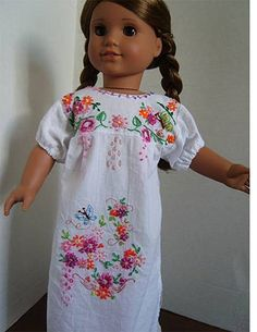 Mexican Doll Dress Pattern