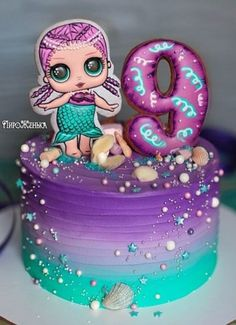 Birthday dinner ideas surprise Super ideas Best Picture For Lol Surprise Dolls Cake printables For Your Taste You are looking for something, Doll Birthday Cake, Funny Birthday Cakes, Birthday Fun, Surprise Birthday, Lol Doll Cake, Surprise Cake, Mermaid Cakes, Birthday Dinners, Girl Cakes