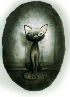 gato negro poe dibujo - Buscar con Google