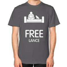 Free Lance Men's T-shirt, American Apparel T-shirt, funny tee, custom t shirt, entrepreneur t shirt, marketer tee (White icon)
