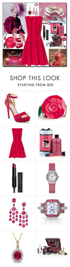 """RASBERRY - Trend 2017"" by fantasiegirl ❤ liked on Polyvore featuring Jimmy Choo, Kate Spade, Jason Wu, philosophy, Givenchy, Hermès, Ivy and Bobbi Brown Cosmetics"