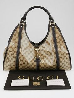 #Gucci Gg Coated Canvas Leather Shoulder Bag Buy at a reasonable price. visit tradesy.com and open #JIT store to purchase.