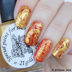 🎊新年快乐!Happy Chinese New Year! 🎊El Corazon 🎊Special polish for stamping nail art Kaleidoscope gold,… New Year's Nails, Gold Nails, Stamping Nail Art, Happy Chinese New Year, Black Women Art, Nail Decorations, Nail Art Galleries, Nail Manicure, Looks Cool