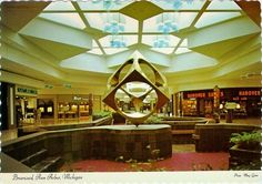 Vintage postcard of Briarwood Mall in Ann Arbor, Michigan Dead Malls, Mall Stores, Interior Design Courses, Shopping Malls, Abandoned Places, Abandoned Malls, Architectural Features, Ann Arbor, Ranch Style