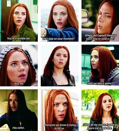 (gif set) Natasha Romanoff ||| Captain America: The Winter Soldier