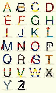 Super Superhero Room printable letters