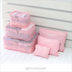 6Pc Candy Color Travel Packing Cube Organizer Bags - Travel Accessories - Tac City Goods Co - 5  Link in the bio