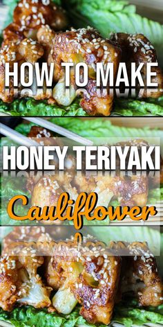 Vegan crispy honey teriyaki is pan fried in sesame oil and dowsed in teriyaki sauce. Perfect Chinese food alternative. Crispy caramelized cauliflower bites with honey teriyaki glaze. Easy cauliflower recipe and perfect for an appetizer or lunch.
