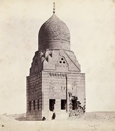 "Darran Anderson on Twitter: ""Tomb of Sultan az-Zahir Qansuh photographed by James Robertson and Felice Beato around 1858.… """