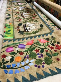 Ladies of the sea - quilted by Margaret Solomon for a client. Mainly Quilts of Love FB page