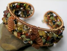 a wire bead woven bracelet, love it!  #craft