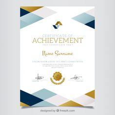 certificat géométrique de réalisation Vecteur gratuit
