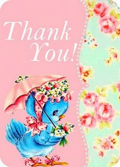 ♥ Freebie Printable Thank you Card♥ | *Free ♥ Pretty ♥ Things ♥ For ♥ You*