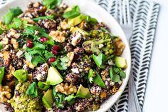 Jamie Oliver Superfood Salad with sweet potatoes, quinoa, feta cheese and avocado | View full post on Mondomulia.com