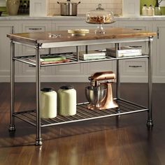 DIY Kitchen Islands Home Pinterest Metro Shelving Ikea - Kitchen prep table with seating