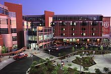 The northeast end of the University campus includes the Medical Center, Primary Children's Medical Center, the Huntsman Cancer Institute, The Moran Eye Center & the Spencer Eccles Health Sciences Library