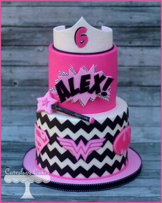 Super hero and princess themed cake www.facebook.com/i.love.cuteology.cakes