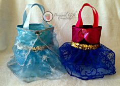 Disney Frozen Elsa Inspired Party Favor Tutu bags by Personal Gift Creation, $10.00