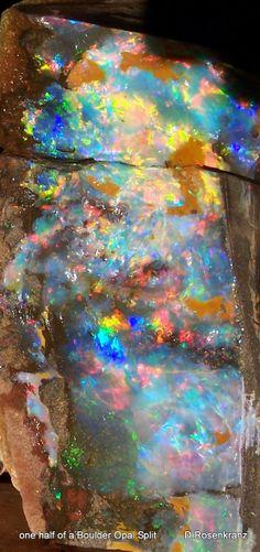 one half of a Boulder Opal Split - Dieter Rosenkranz