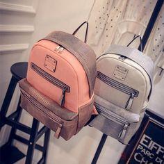 New Vintage PU Leather Travel Shoulder Women Satchel Backpack School Bag Handbag