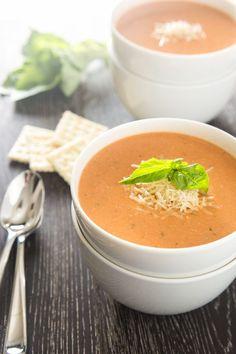 Creamy Tomato Basil Soup with Parmesan-1