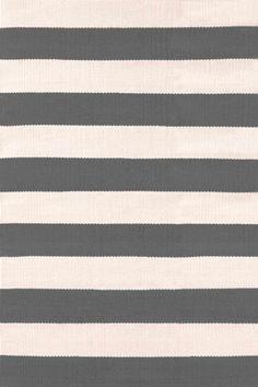 Catamaran Stripe Graphite/Ivory Indoor/Outdoor Rug | Dash U0026 Albert Rug  Company