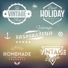 Vintage Labels - Decorative Symbols Decorative