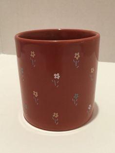 VTG 1984 Gear Design Sienna Red Brown Flowers Coffee Mug Tea Cup England #GearDesign #VTGcoffeemug #vtgmug #vintagemug #1984coffeemug #flowersmug #teacup