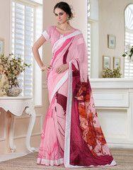 Pink Color Linen Bhagalpuri Party Wear Sarees : Nayantara Collection YF-31996