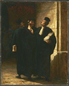 Honoré Daumier - Three Lawyers