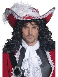 Chapeau de Pirate Pirate Hat Costume Carnival Leather Look Braun Adult