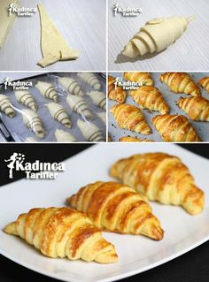 Real Croissant Recipe, How To, Cookie Recipes Forno Industrial, Russian Pastries, Pastry Design, Food Carving, Food Lab, Food Articles, Iftar, Turkish Recipes, Cookies Et Biscuits